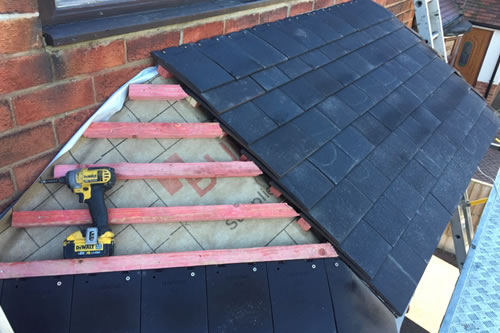 flat to pitched roof